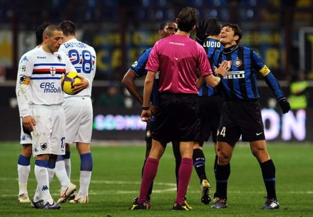 Inter 0-0 Sampdoria: Nerazzurri Turn Red As Del Neri Hoodoo Runs On
