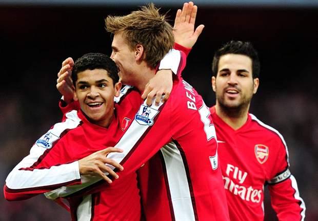 Arsenal 2-0 West Ham: Denilson and Cesc Fabregas strike as ten-man Gunners top Premier League
