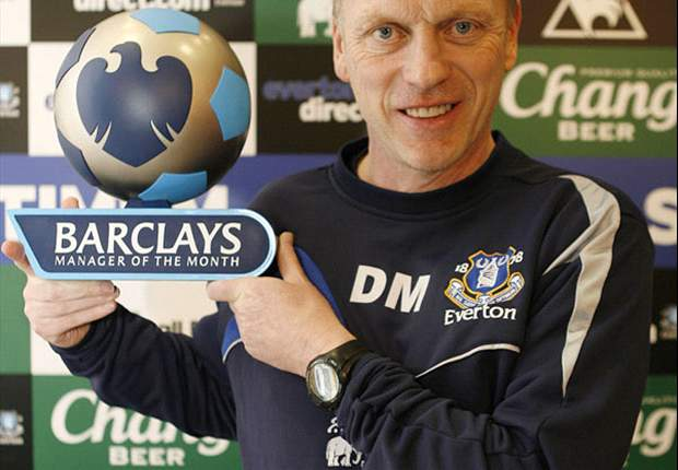Everton boss David Moyes wins Premier League Manager of the Month for October
