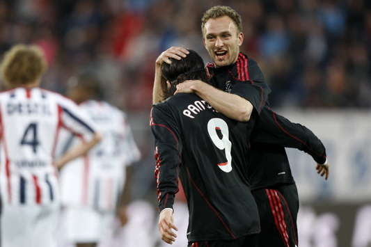 Dennis Rommedahl en Marko Pantelic, Willem II - Ajax (PROSHOTS)