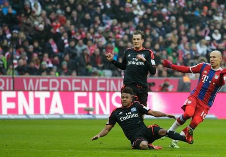 Résumé de match, Bayern Munich-Hambourg (8-0)