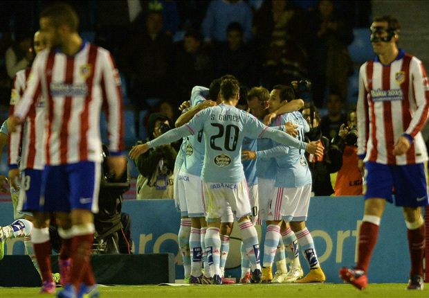 Celta 2-0 Atletico Madrid: Nolito and Orellana strike a blow to champions' title hopes