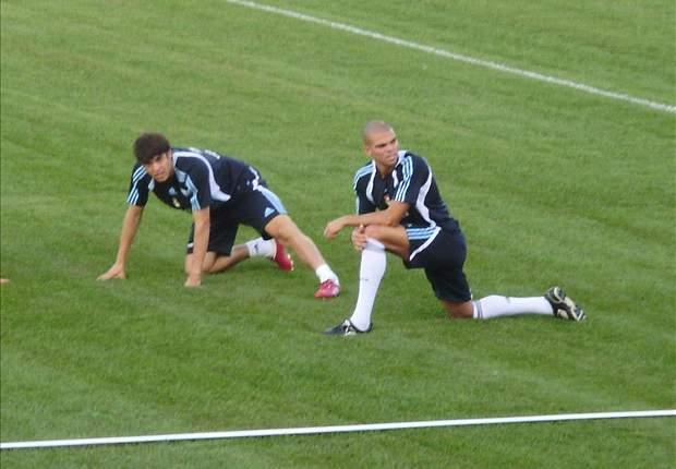 Real Madrid's Guti Misses Training While Alvaro Arbeloa And Lassana Diarra Withdraw Early