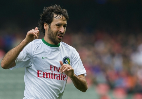 Raul nets penalty on Cosmos debut
