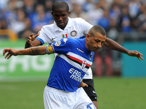 Eto'o & Palombo - Sampdoria-Inter (Getty Images)