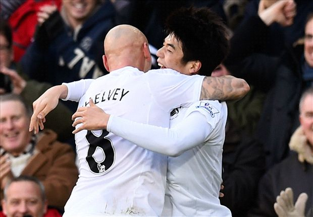 Swansea City 2-1 Manchester United: Gomis winner dents visitors' top-four hopes