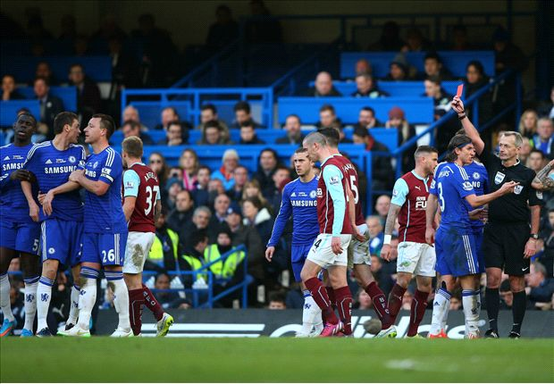 Chelsea 1-1 Burnley: Late Mee leveller shocks 10-man Blues
