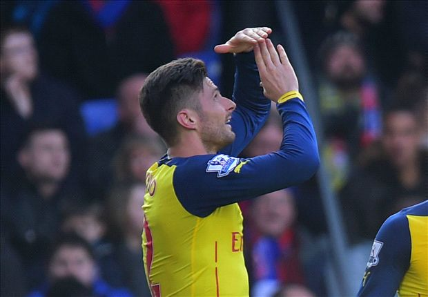 Crystal Palace 1-2 Arsenal: Giroud's 50th Gunners goal seals three points