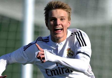 Odegaard scores first Castilla goal