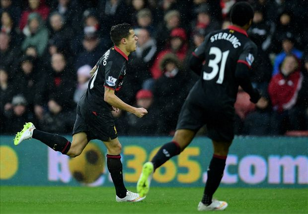 Southampton 0-2 Liverpool: Coutinho & Sterling ensure Rodgers' men march on