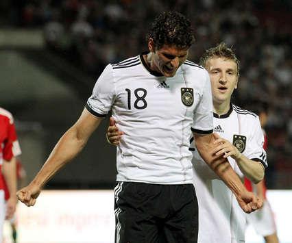 Germany – Hungary: Mario Gomez, Marko Marin (Getty Images)
