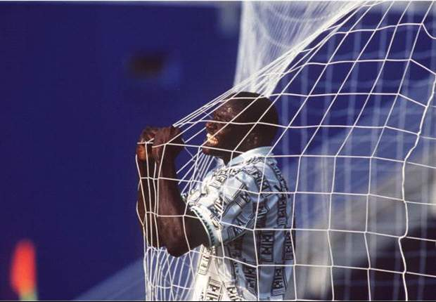 Coca-Cola Memorable Celebrations 8: Rashidi Yekini Lets It All Out For Nigeria As He Creates History